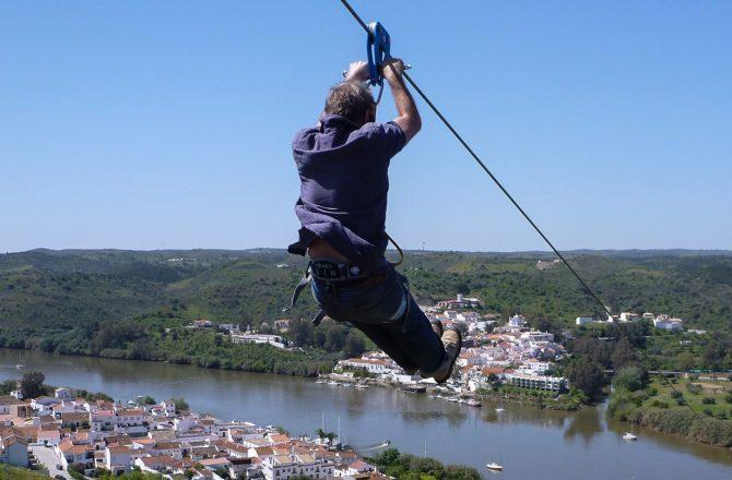 زیپ لاین از اسپانیا به پرتغال